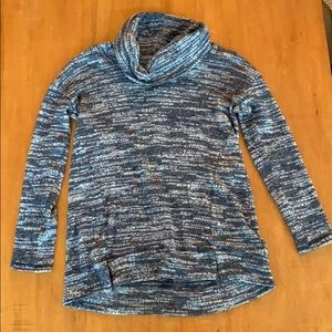Cowl Neck Dark Blue Aerie Sweater